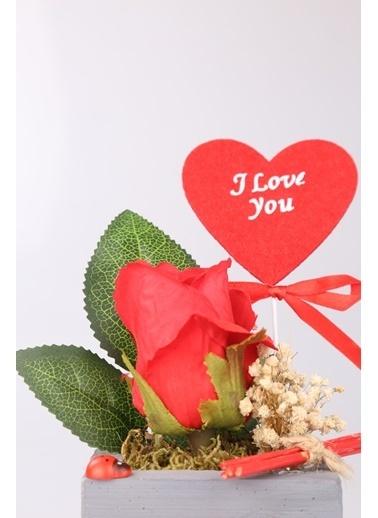 Kibrithane Çiçek Yapay Çiçek Kırmızı Gül Aranjman Kc00200728 Renkli
